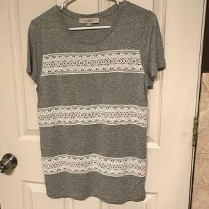 LOFT Gray casual T-shirt size M